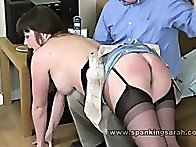 Suzzane does some nasty positions and gets spanked