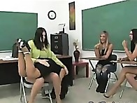 OTK drubbing of a brunette hair schoolgirl