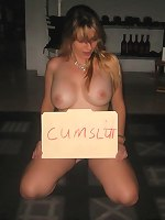 Amateur cumsluts get tied and spanked