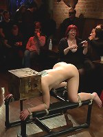 Cheyenne Jewel submits to an armory party full of kinky perverts. Intense public BDSM, cock sucking, double penetration, and more!!!