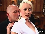 BDSM Movies Platinum blonde gets bondage and Bdsmposts.com