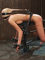 Hot porn girl gets bound like a dog, humiliated and fucked by a machine until she cums and cums..