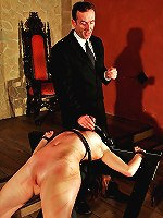 Whip punished in torture rack