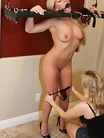 Sexy girls respecting bondage used as human accessories and residence decorations