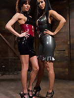 A handful of latex goddesses pumped malesub` exasperation and smothered him by pussy and exasperation