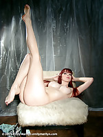 Emily Marilyn long red hair, red nails, completely nude