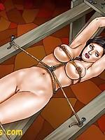 Fantasy art women endure the rack