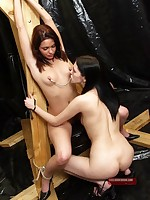 Slave submits to nipple torture from Mistress