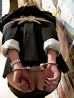 Teen is cuffed, gagged, bound in rope