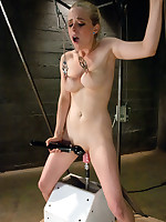 Double Penetration, brutal nipple clamps and secured up tits while machines fucking her in all holes it's an EPIC day with Superintendent hottie,..