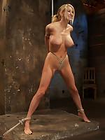 Helpless girls bound and tits roped at bondageco.com