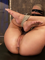 Bondage and forced orgasms for blonde