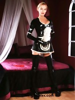 Hot maid in a latex outfit