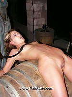 Pretty babe brutally whipped in dungeon