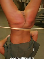 Bimbo suspended wide and caned