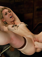 Ass hook plus a big cock for lucky submissive