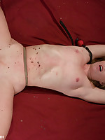 Hot wax treatment for bound submissive