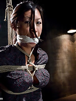 Intense bondage and fierce caning are foreplay for Asian cutie