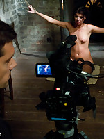 Two girls are captured by a avid fellow filmmaker and endure coarse thraldom sex!