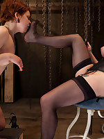 Pussy and tit torture training for slavegirl
