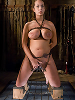 Slave in chains forced to sexually submit