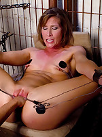 Bound submissive turned into electrified fucktoy