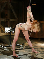 Pinky Lee is tied in sternuous bondage