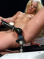 Amy Brooke look a-like hottie shows off her ass fucking skills by fisting while procurement machine fucked, w/a two machine DP & sybian ride & ass poundin