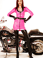 Emily Marilyn hot pink rubber on hog