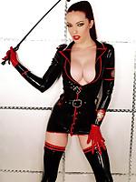 Emily Marilyn erotic redhead rubber military nurse