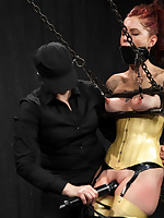 Easy on the eyes involving latex with an increment of chains, Tricia gets her head dunked involving water during the time that getting zapped with..