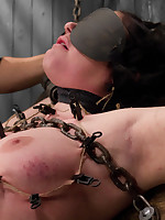 Andy San Dimas submits to Orlando in a no holds live show with intricate metal bondage, intense sensory dep & quality play, INTENSE orgasms, & caning!