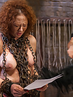 Anal Whore Audrey Hollander takes on the drilling gimp's weasel words on steady old-fashioned team a few of will not hear of Training of O