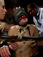 Brunette Battle-axe FISTED and ANALLY PLOWED connected with personate of an audience of 70!!