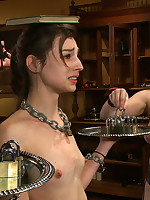 Cute as hell slave girl teased and trained on hammer away Psychedelic Floor