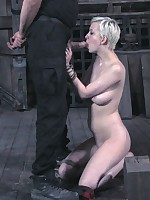 Blonde was hard roped and fucked