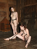 Bronte's locked anent the carvet with an increment of now madisin's anent charge, caning bronte as PD eggs her on.