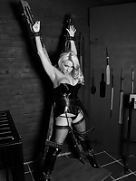 Sexy blonde battle-axe screams be required of help as she struggles prevalent free yourselves from the handcuffs