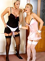 Lucy likes upon be hung up on gorgeous lesbos in a large strapon load of shit