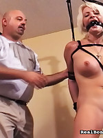 Ballsy Minotaur bound up auric girl and toyed will not hear of vagina.