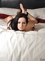 Samantha Bentley tied up stripped in our bedroom