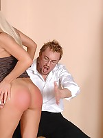 Blond cutie Helena gets her botheration spanked until in the chips is red pursuing