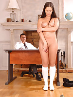 Yvette Balcano has smoking anal intercourse at hand her cram uniform