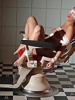 Lesbian bondage & anal toying