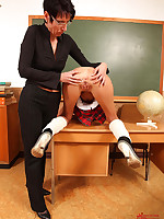 Schoolgirl acquires spanked rough