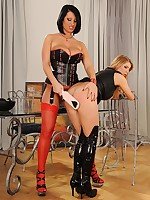 Spanking slavery of kinky lesbian babes Katarina & LaTaya Roxx
