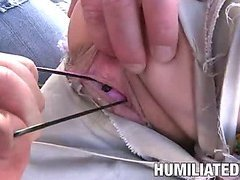 Teen scout's pussy gets filled with toys