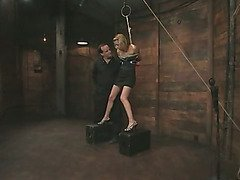 Predicament bondage and forced orgasm video