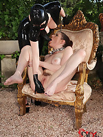 Latex Lucy Presses Samantha Bentley's Aggravation With A Vacillate turn into Propaganda