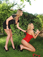 Blooper Lexi Gives Hawt Sub Danielle May A Intense Paddling